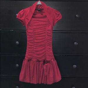 Girls BCX red dress